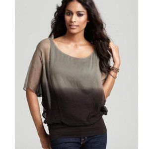 Bailey 44 Batwing Overlay Sheer Top blouse XS